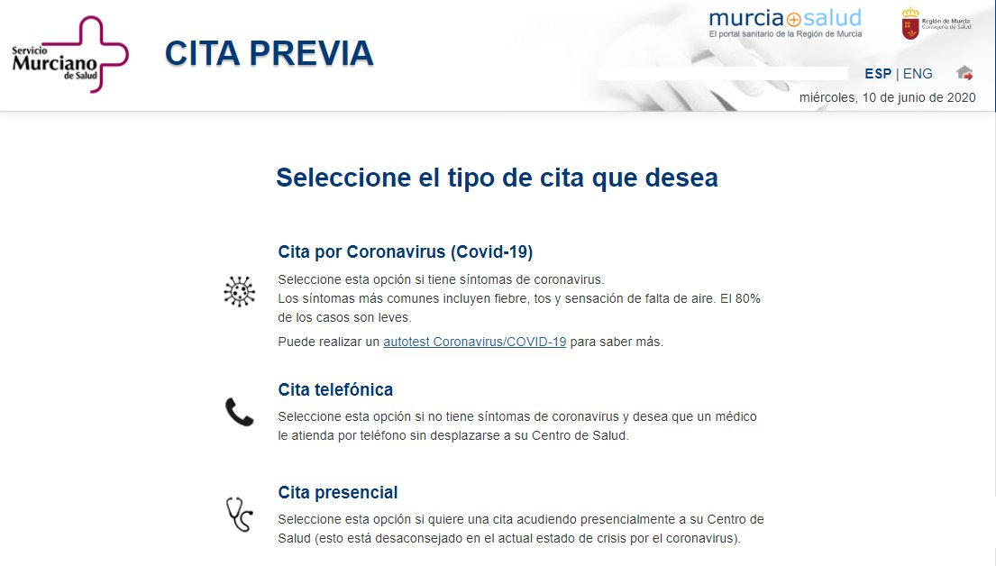 Cita previa Murcia Salud