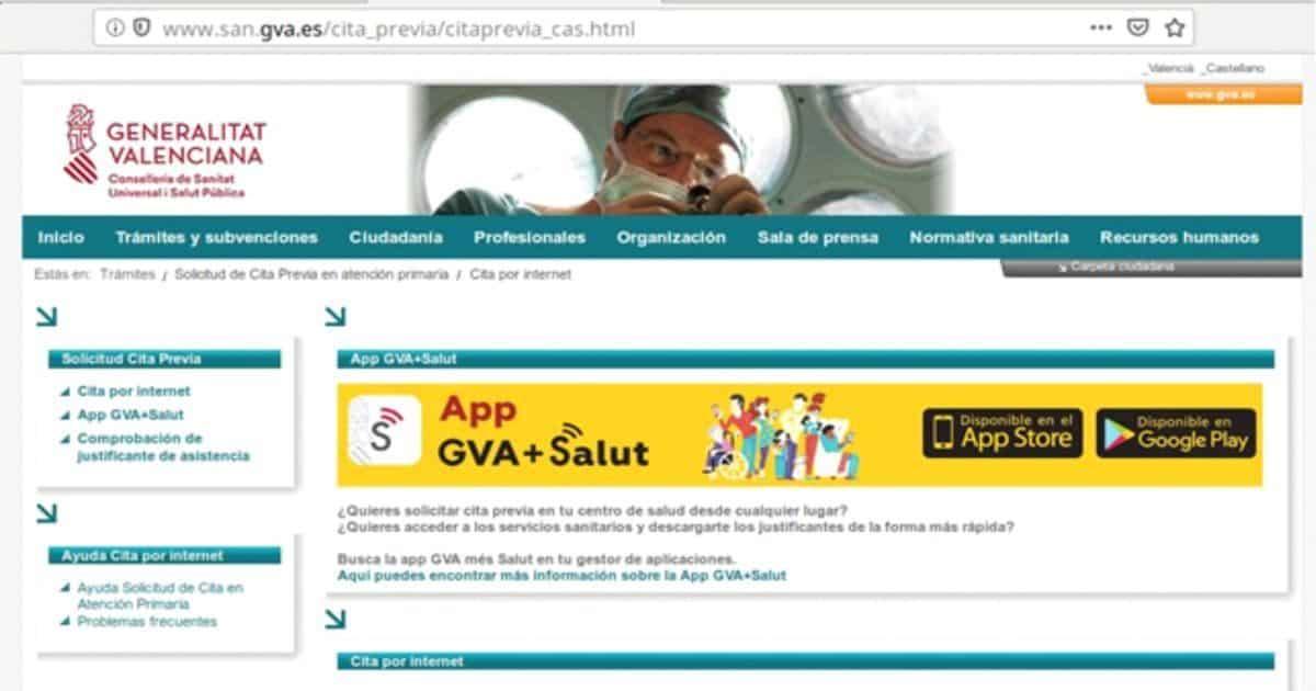 Cita previa GVA