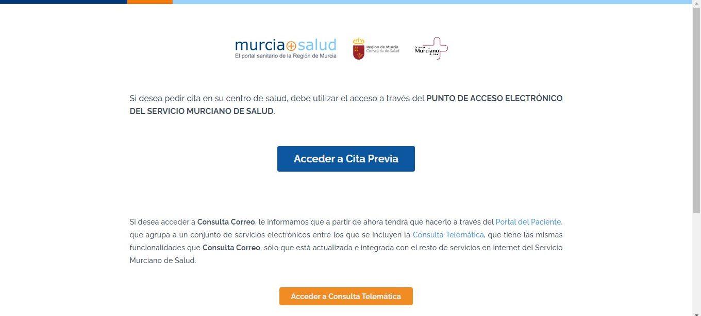 Cita previa médico Murcia