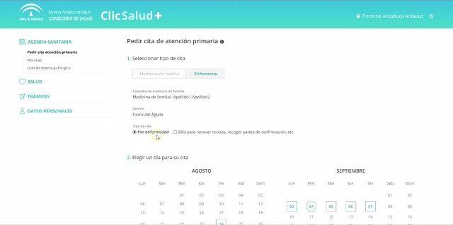 Cita previa médico Andalucía