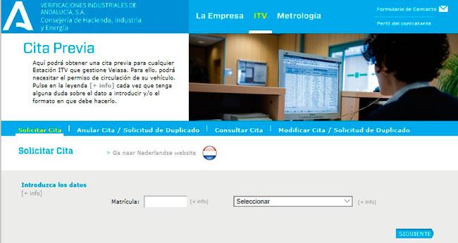 Cita previa ITV en Andalucía